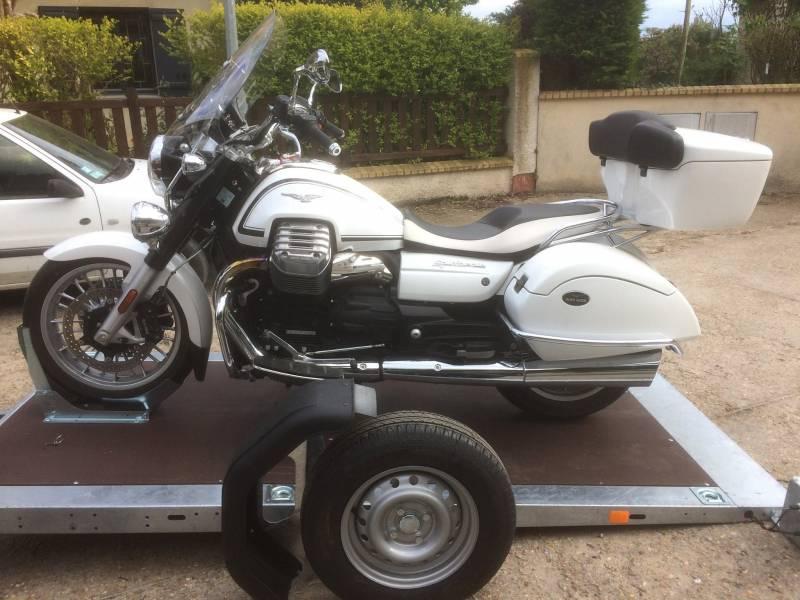 Remorque porte moto avec chargement facile paris 75 cochet - Remorque porte moto grosse cylindree ...